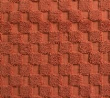 Luxurious linenHall, 850gsm 100% Cotton Reversible Bath Mat in Terracotta